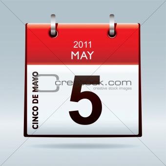 Cinco De Mayo calendar icon