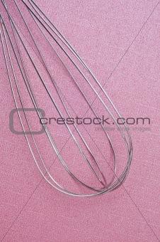 Kitchen Whisk on Pink