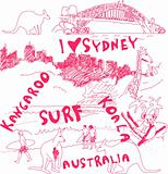 Sydney and Australia Doodles