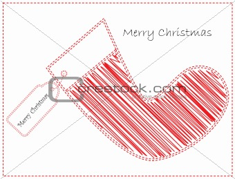 Christmas Card with Stocking
