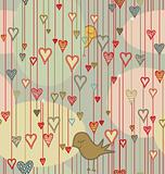 Valentine Background with Birds