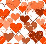 Hearts seamless Background. Vector