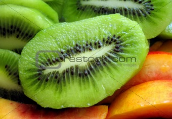 kiwi and nectarine