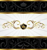 Ornate golden decorative frame