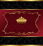 ornate decorative background with crown