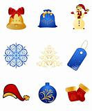 Set New Year's, christmas symbols and elements