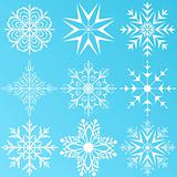 set variation snowflakes isolated