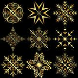 set large gold snowflakes