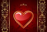 creative Valentine greeting card with heart