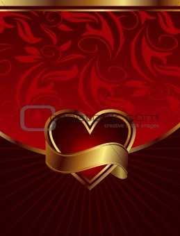 background for design of packing Saint Valentine's Day