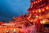 famous thean hou temple in malaysia during chinese new year cele
