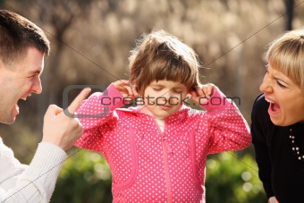 Parents shouting at an innocent child in the park