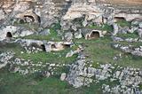 Palaeolithic caves. Matera. Basilicata.
