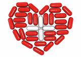 3d conceptual image of pills