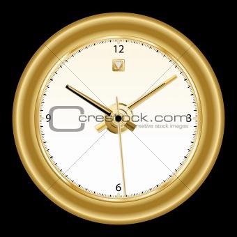 Clock, classic gold rimmed