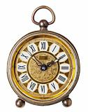 Antique clock isolated.