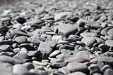 mound of dry pebbles