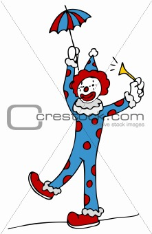 Tightrope Walking Circus Clown