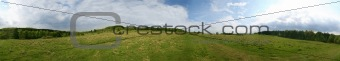 360° panorama of a meadow