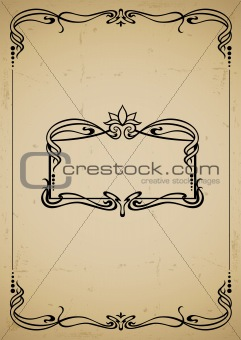 vintage decorative frame