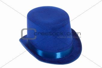 Blue chapeau claque