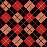 Argyle Pattern in Black, Red and Salmon