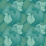 Hosta Leaf Pattern_Blue