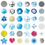 Various abstract icons isolated on a white background