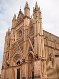 The gothic cathedral of Orvieto