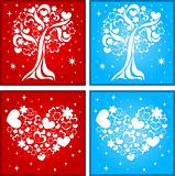 Lovely tree and heart background