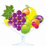fruits in vase