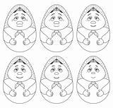 Doll matreshka, contours, set,