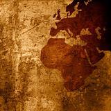aged Europe map-grunge artwork