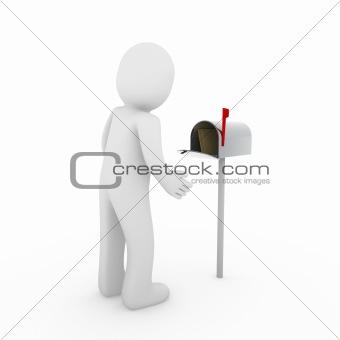 3d human mailbox letter