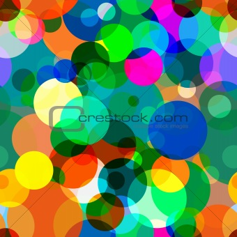 Seamless texture - color iridescent circles