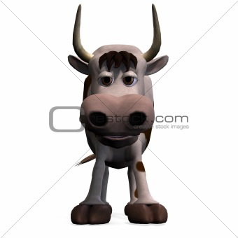 cute and funny cartoon bull