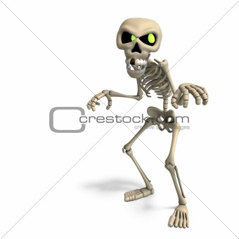 very funny cartoon skeleton