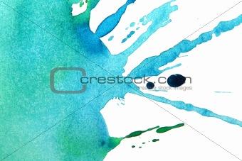 Watercolor sea wave