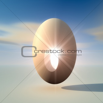 Abstract Egg for New Idea