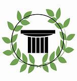 icon with greek symbols