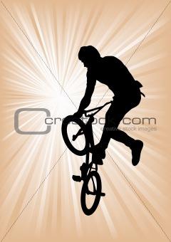 Cyclist boy extreme