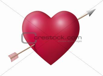 Big heart with arrow
