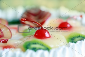 Celebration cake with cherry