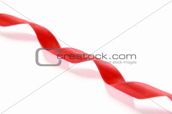 Red spiral ribbon