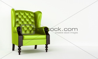 Green classic armchair