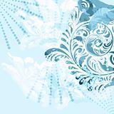 vector vintage floral grunge background