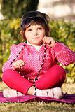 Baby girl in the park