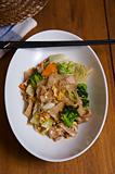 fried rice noodle and vegetable