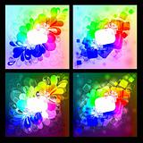 Collection of abstract background