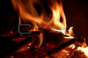 Flaring bonfire